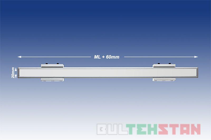 Монтажные размеры магнитной линейки